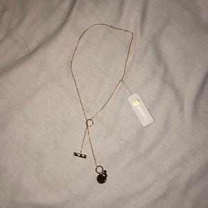 NWT Gold Gorjana lariat necklace
